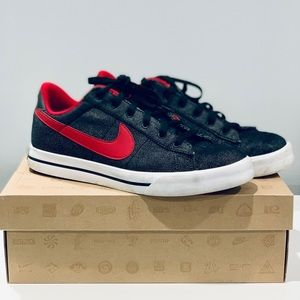 Nike Classic Textile Sneakers (Black/Red)
